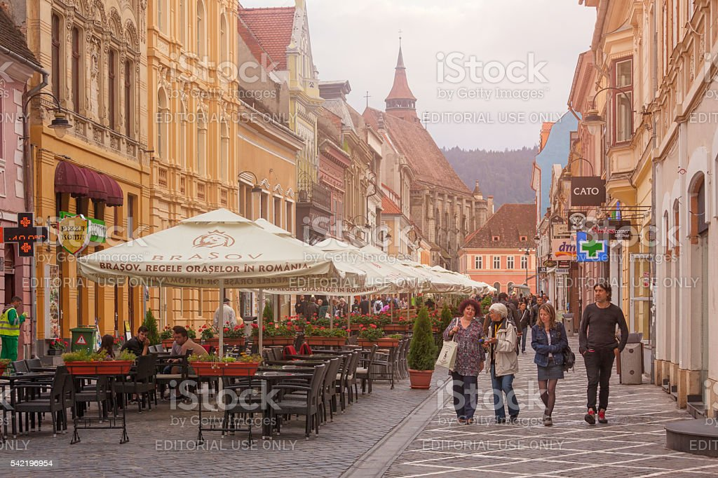 Old town of Brasov, Transylvania stock photo