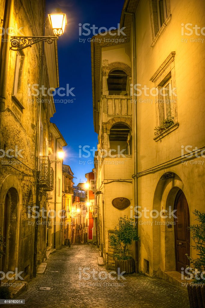 old town of Campobasso stock photo