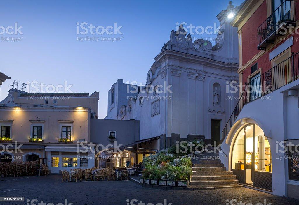 Old town of Capri, Italy stock photo