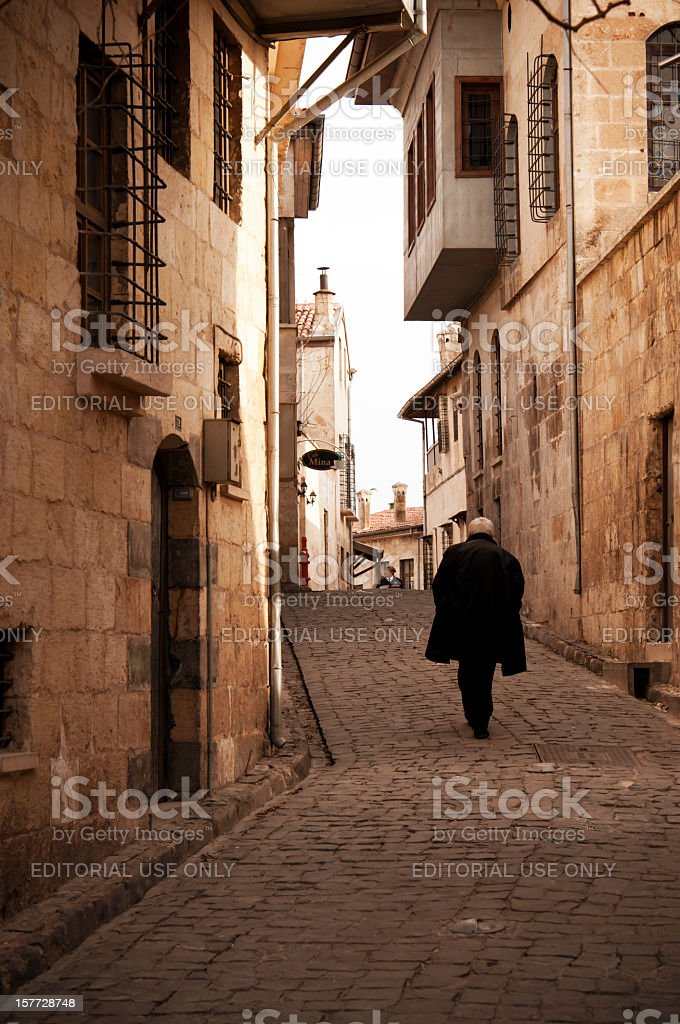 Old town of Gaziantep stock photo