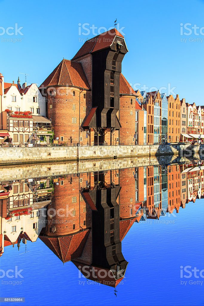 Old Town of Gdansk stock photo