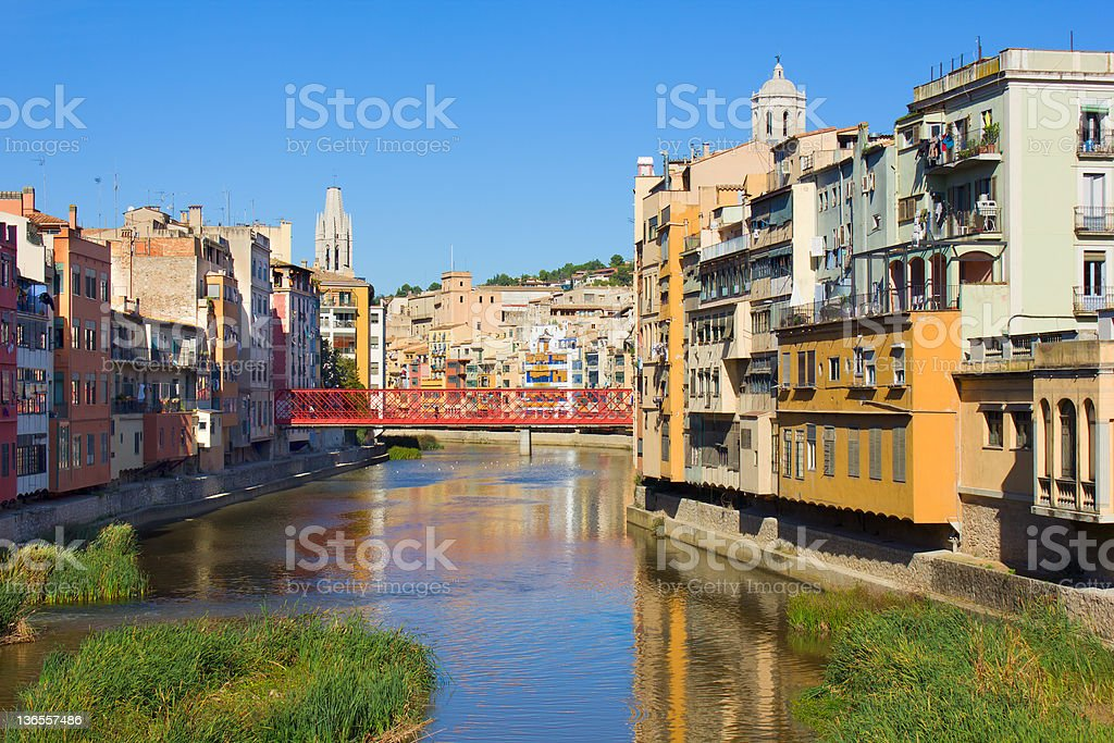 old town of Girona, Spain royalty-free stock photo