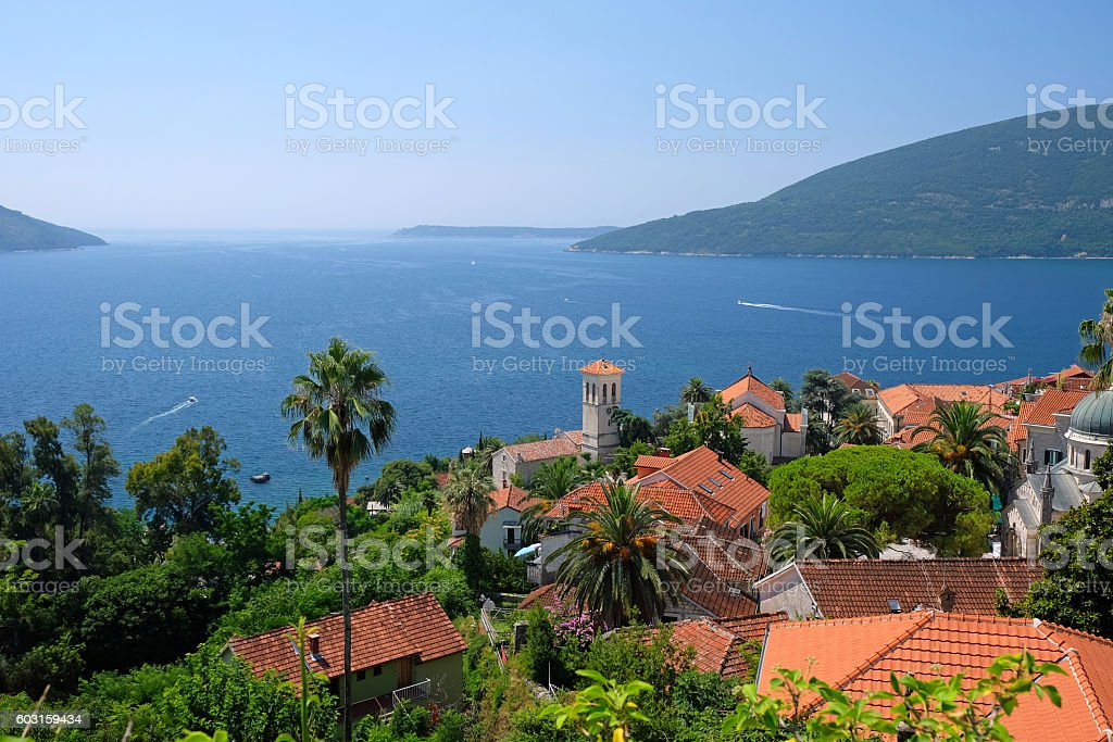 Old town of Herceg Novi, Montenegro stock photo