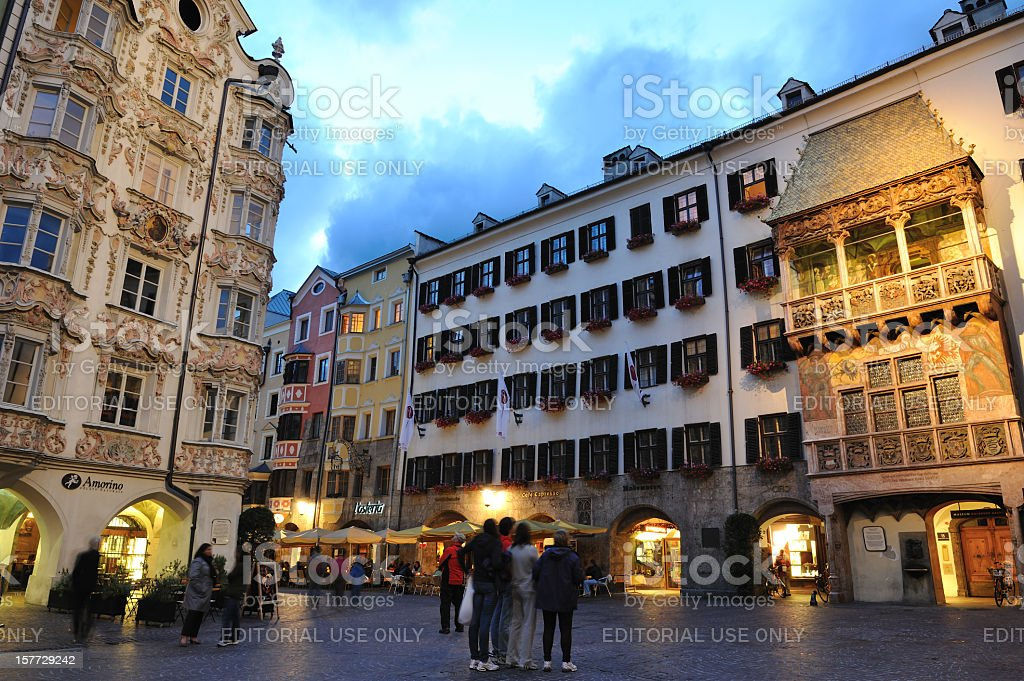 Old Town of Innsbruck stock photo