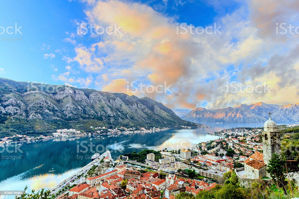 Old town of Kotor, Montenegro stock photo