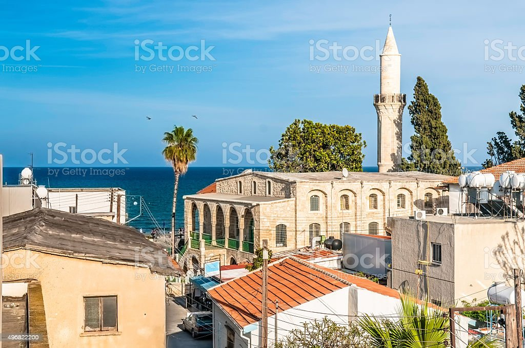 Old town of Larnaca. Cyprus stock photo