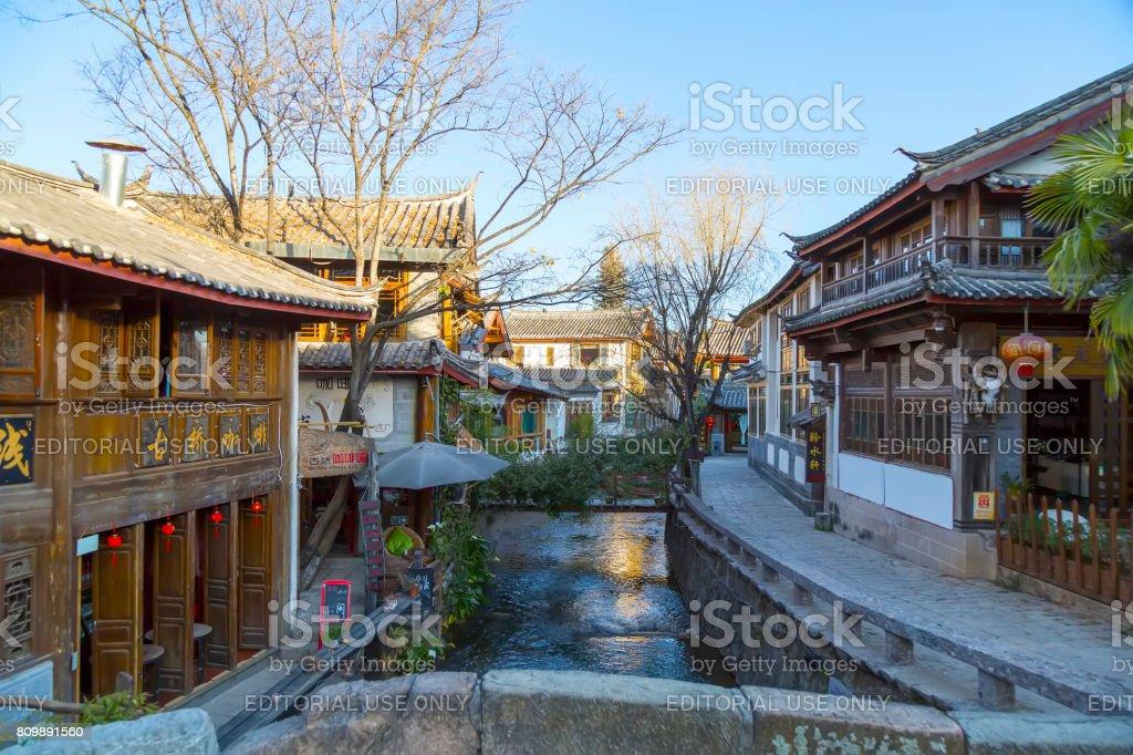 Old Town of Lijiang, Yunnan, China stock photo