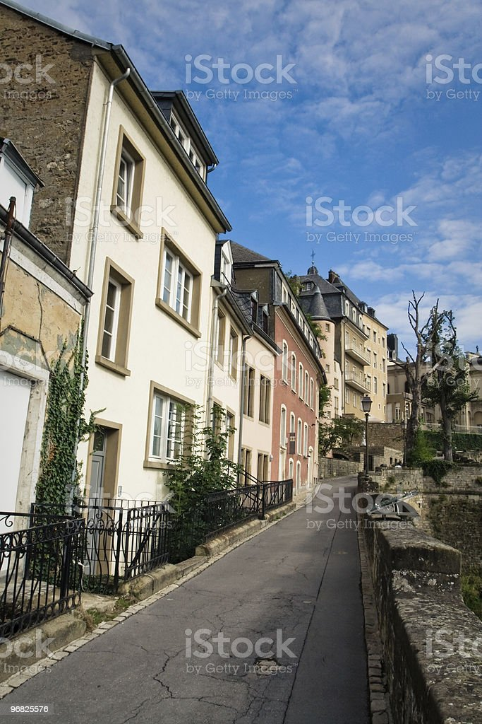 Old town of Luxembourg stock photo