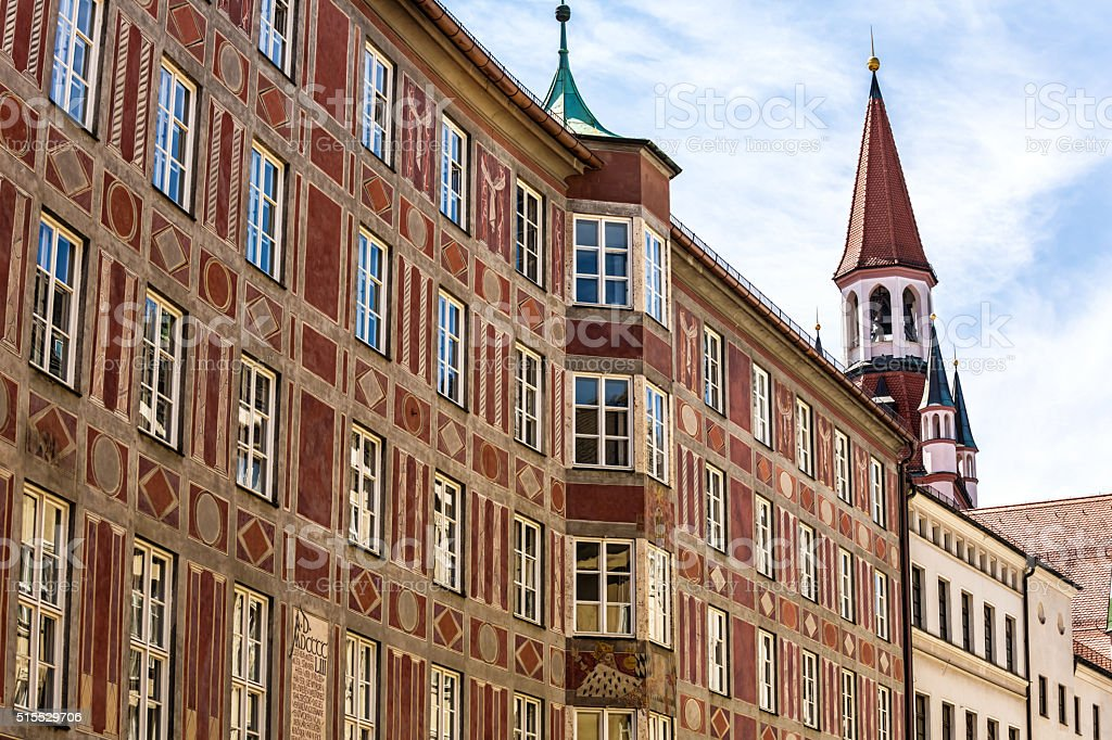 Old town of Munich stock photo