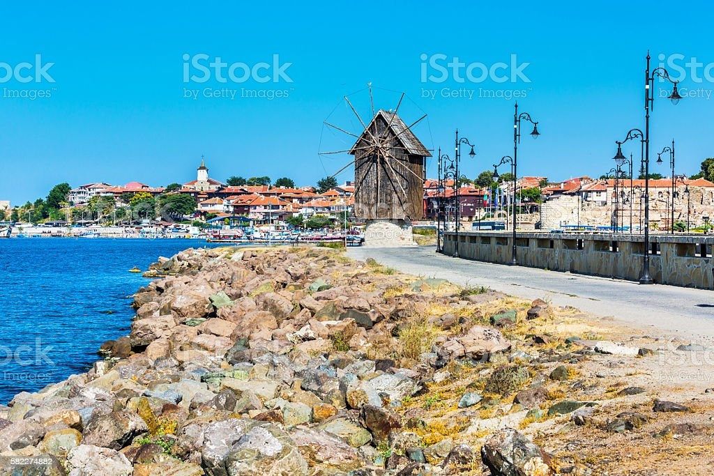 Old Town of Nesebar in Bulgaria by the Black sea stock photo