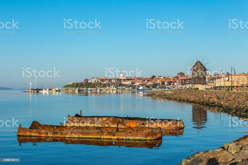 Old town of Nesebar stock photo