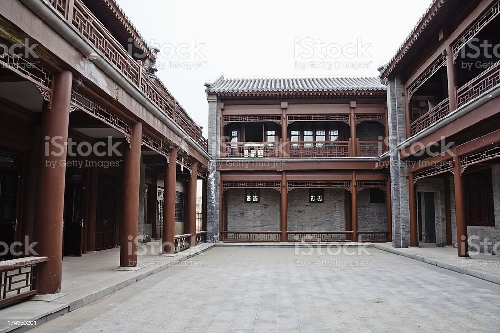 Old town of northern China stock photo