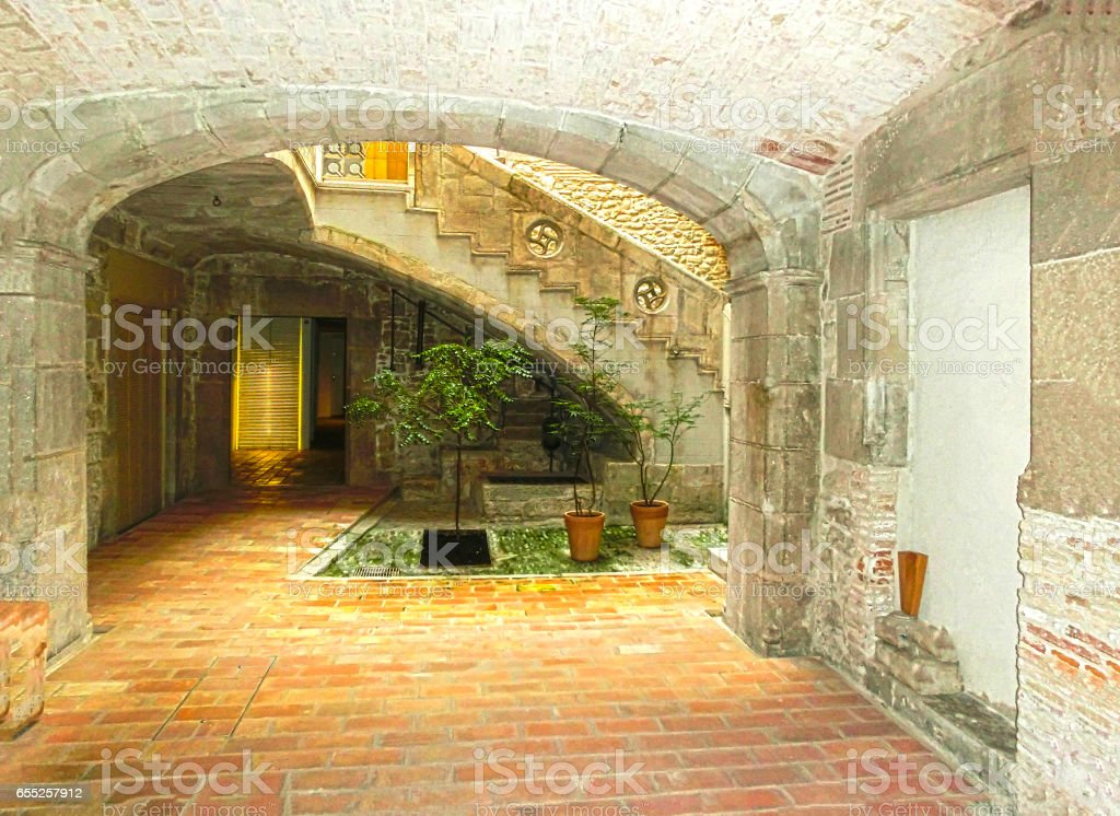 Old town of Pals in Girona, Catalonia, Spain. stock photo