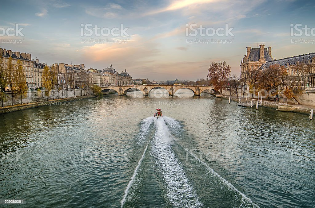 Old Town of Paris (France) stock photo