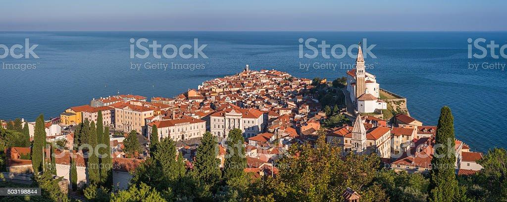 Old Town of Piran stock photo