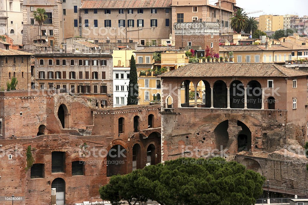 Old town of Rome royalty-free stock photo