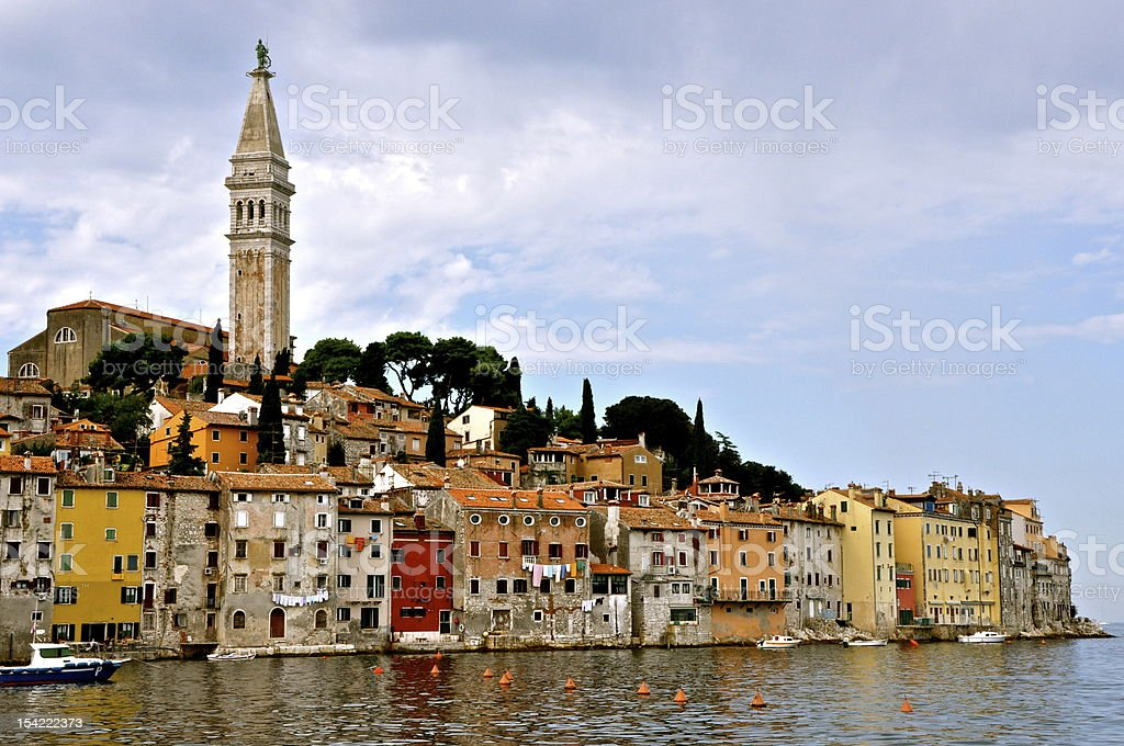 Old Town of Rovinj - Croatia stock photo