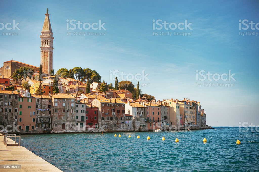 Old Town of Rovinj - Croatia stock photo