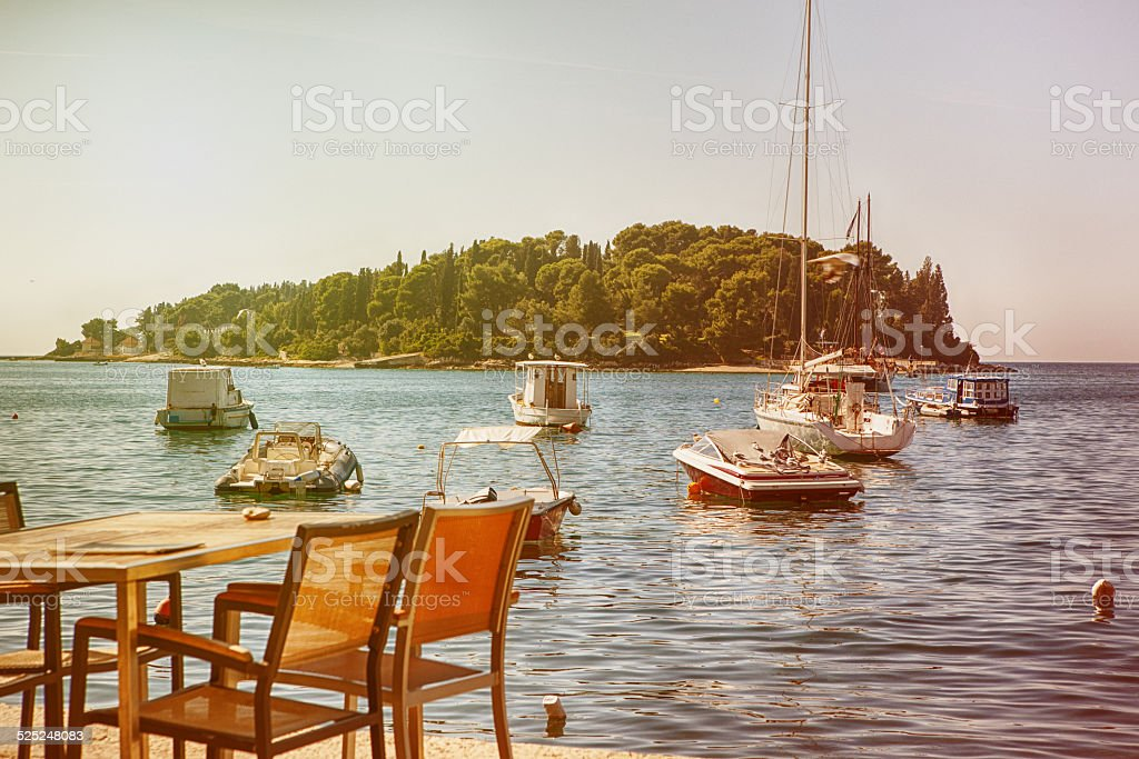 Old Town of Rovinj. Croatia stock photo