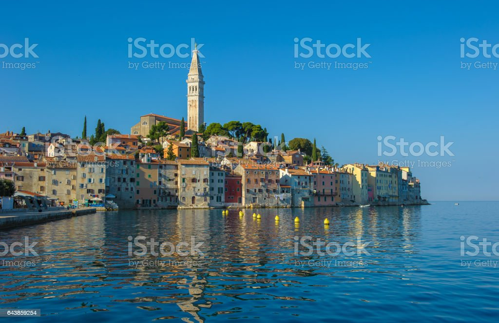 Old town of Rovinj, Istrian Peninsula, Croatia stock photo
