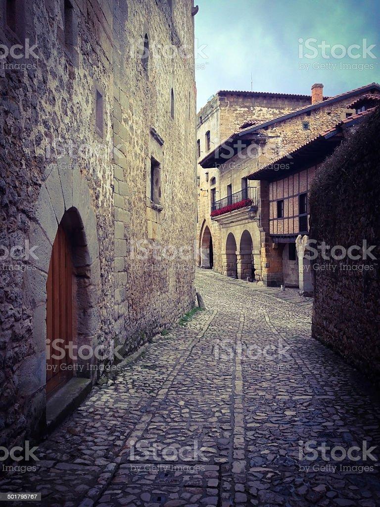 Old town of Santillana del Mar, Cantabria, Spain stock photo