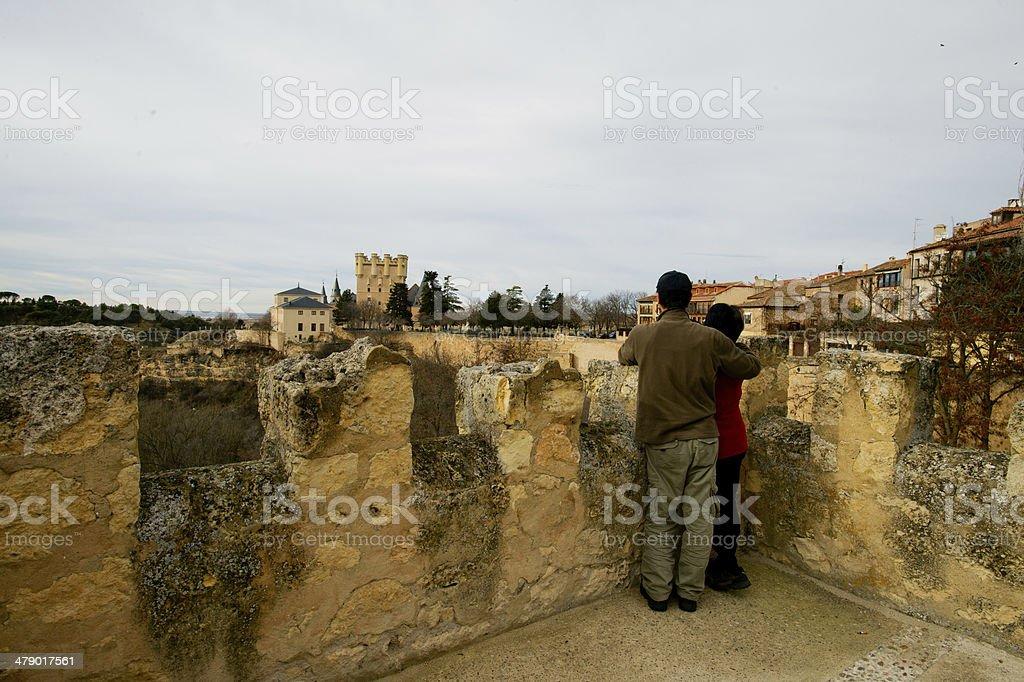 old town of Segovia, Spain stock photo