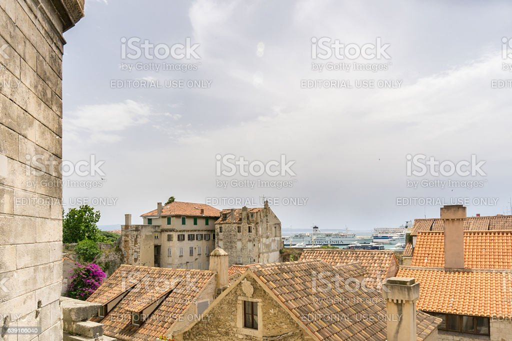 Old Town of Split from Above stock photo