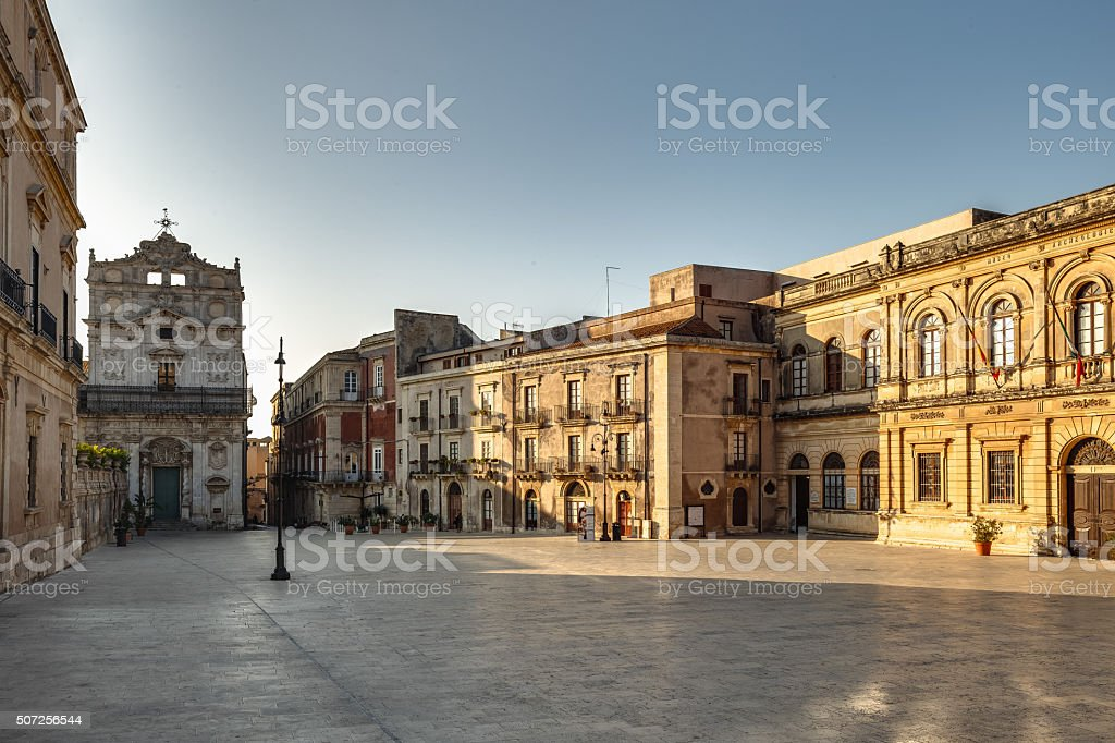 Old Town of Syracuse, Sicily stock photo