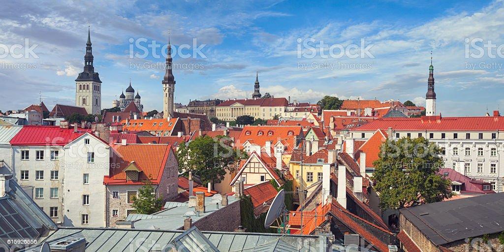 Old town of Tallinn, Estonia stock photo