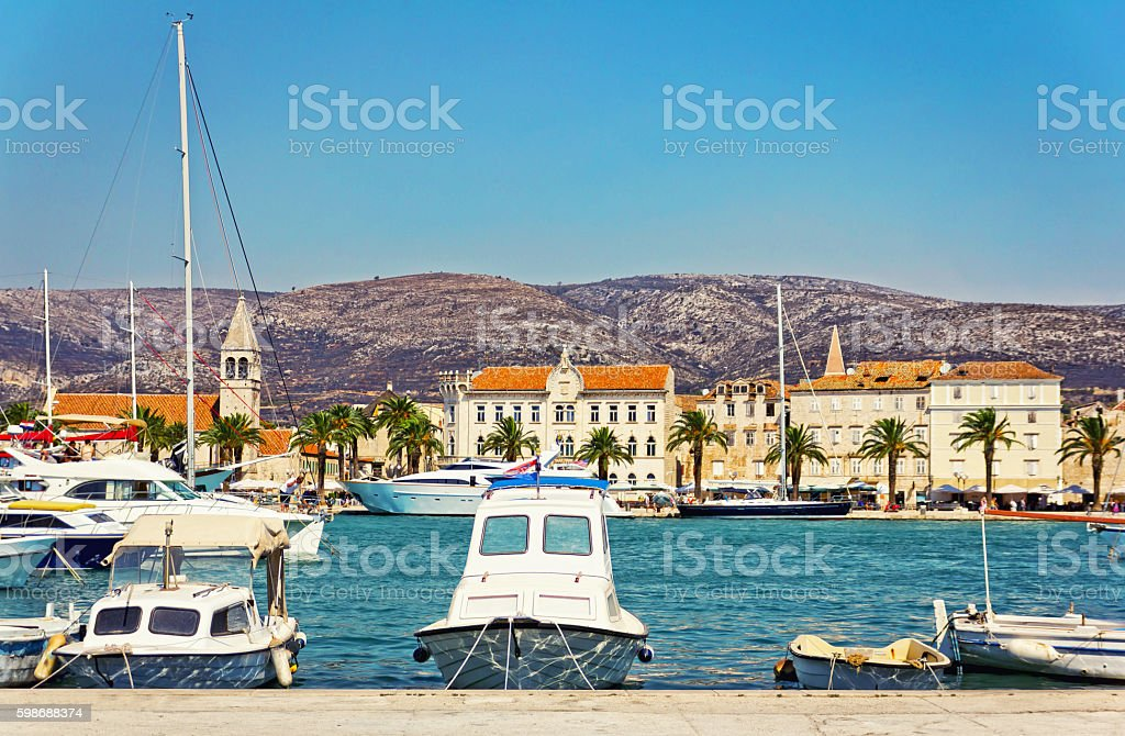Old town of Trogir, Croatia stock photo