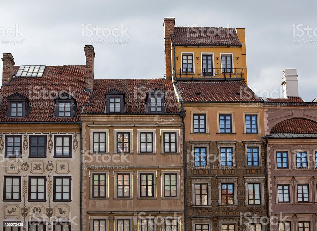 Old Town of Warsaw royalty-free stock photo