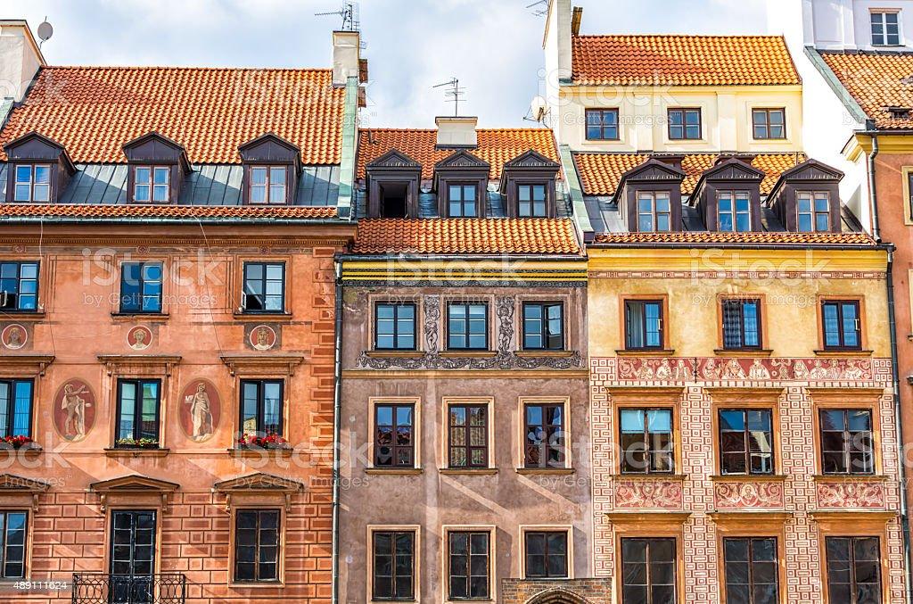 Old Town of Warsaw, Poland stock photo