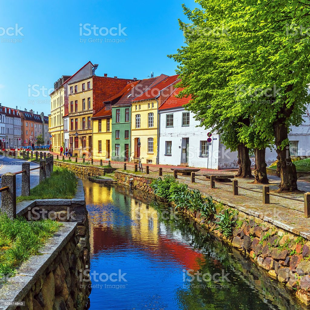 Old Town of Wismar, Germany stock photo