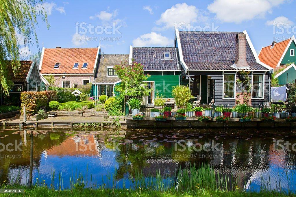old town of Zaandijk, Netherlands stock photo