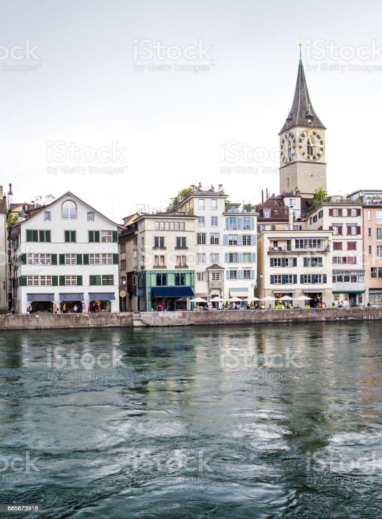 Old town of Zurich, Switzerland. stock photo