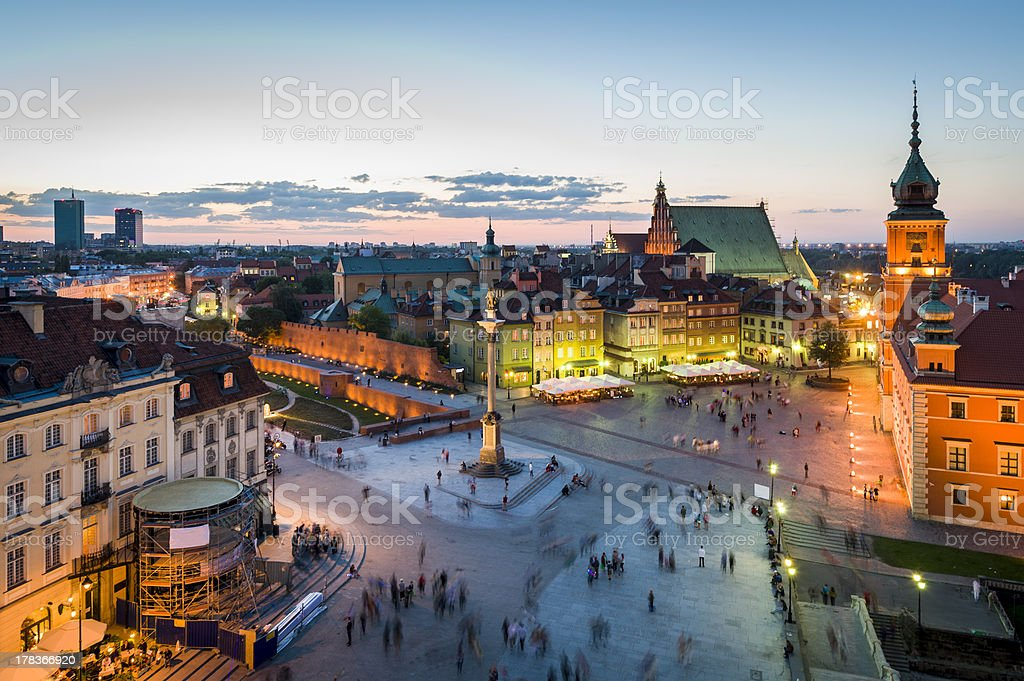 Old Town panorama of Warsaw stock photo