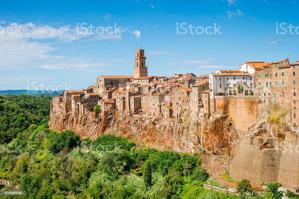 Old town Pitigliano Tuscany Italy stock photo