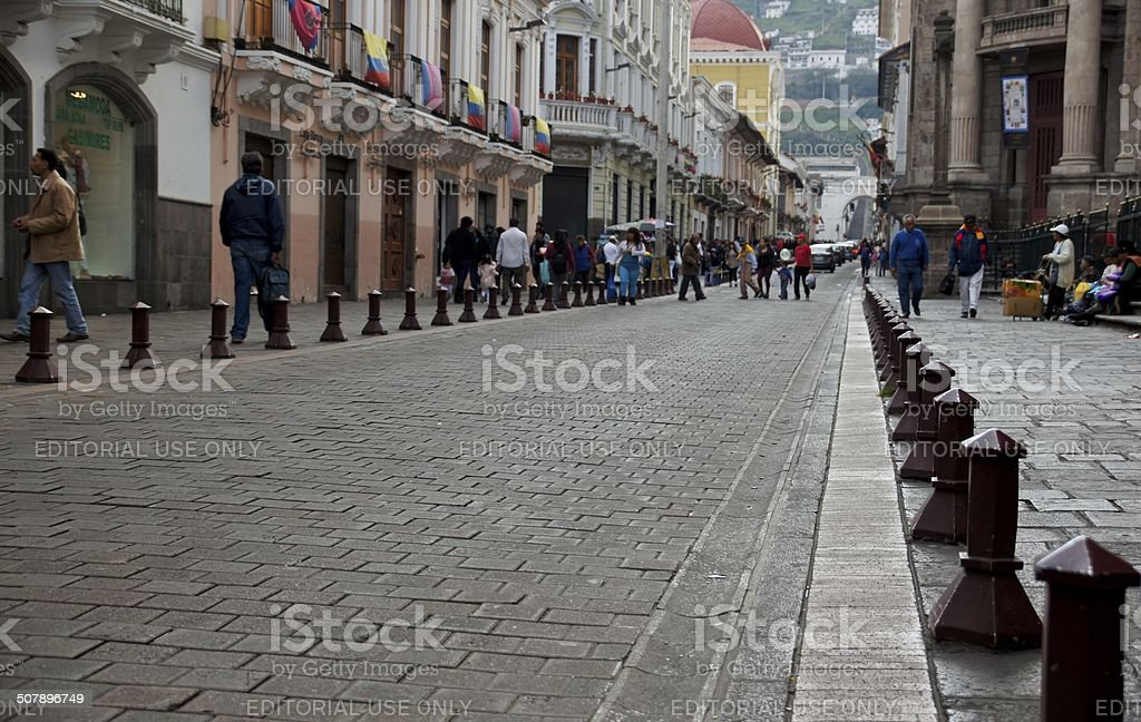 Old Town Quito stock photo