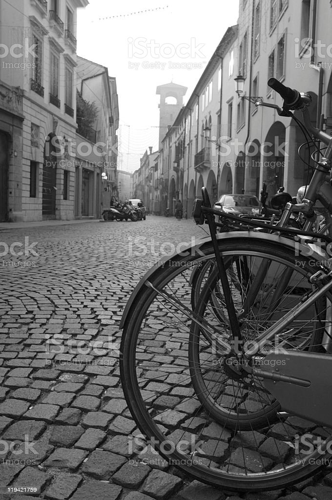 Old town reaching royalty-free stock photo