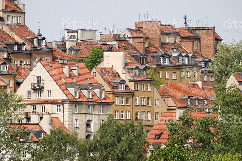 Old Town roofs royalty-free stock photo