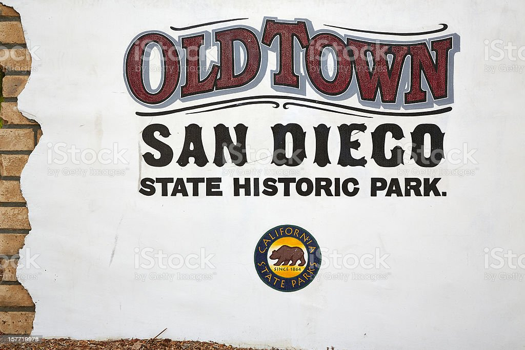 Old Town San Diego Welcome Sign stock photo