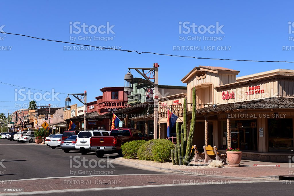 Old Town, Scottsdale, Arizona stock photo
