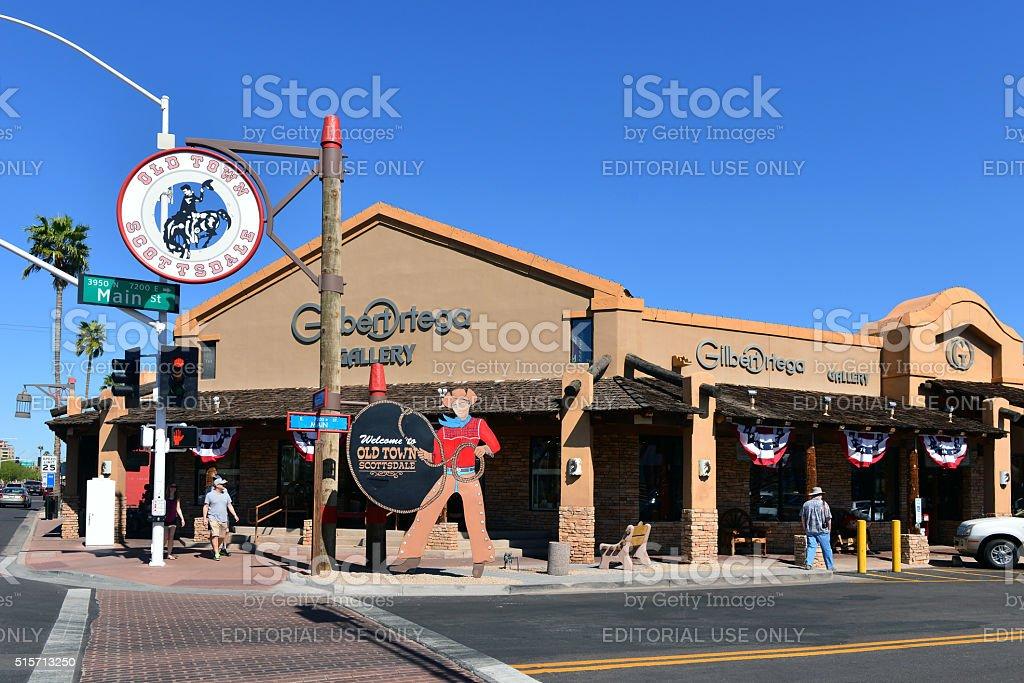 Old Town Scottsdale stock photo