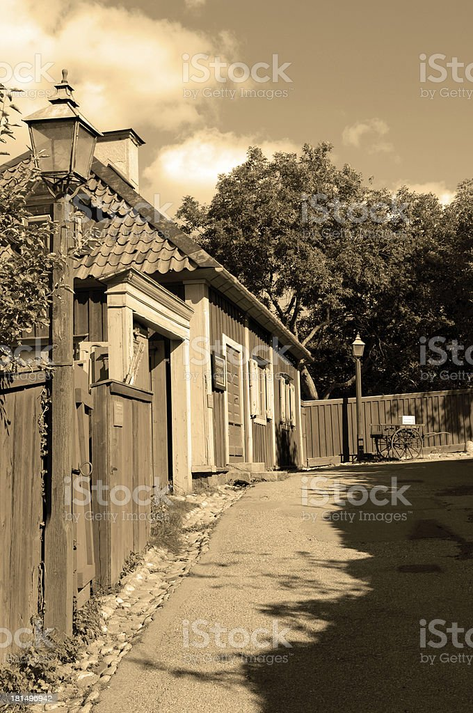 Old Town Sepia Toned royalty-free stock photo