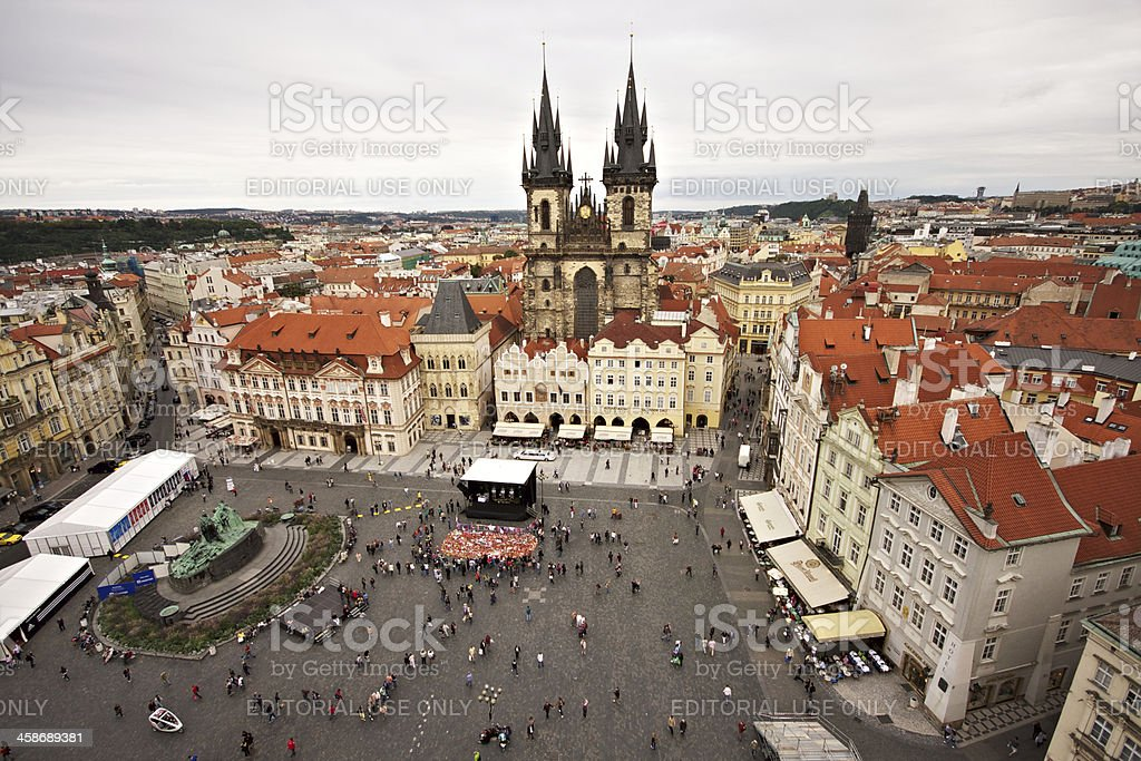 Old Town Square in a cloudy day. Prague. royalty-free stock photo