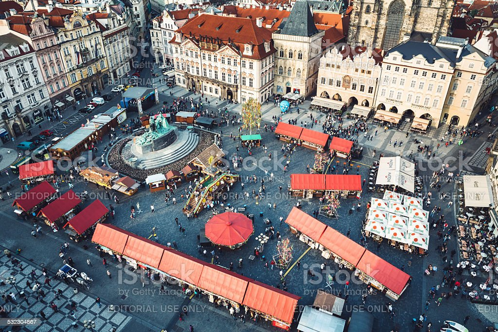 Old Town Square In Prague stock photo