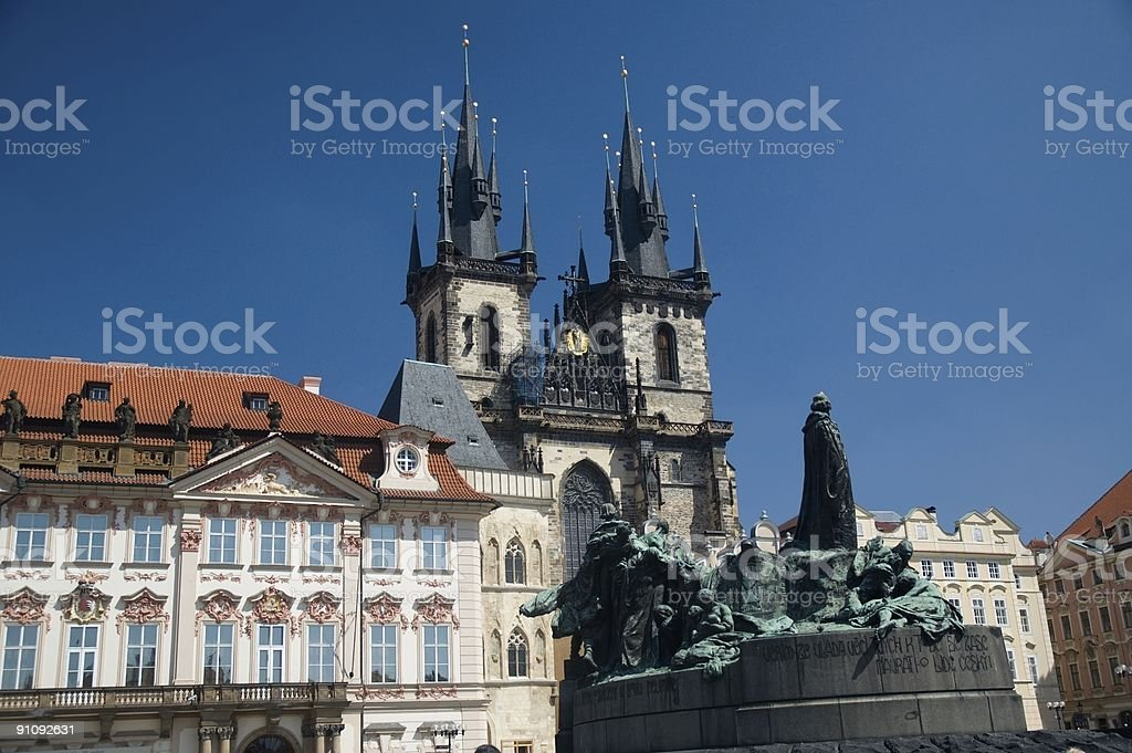 Old Town Square royalty-free stock photo