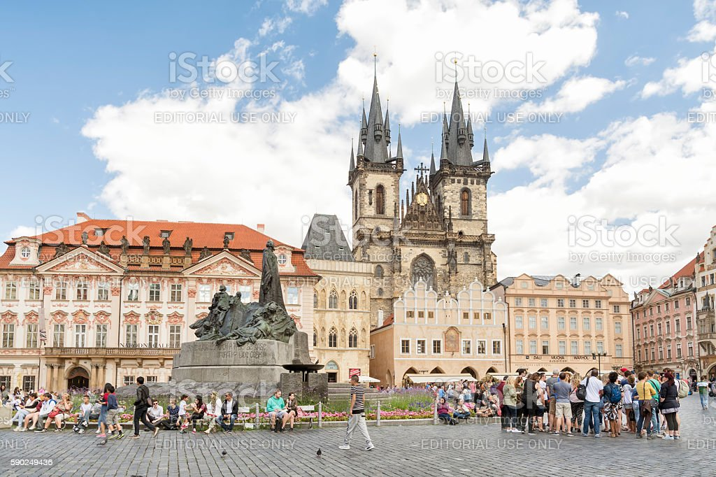 Old Town Square, Prague, Czech Republic stock photo