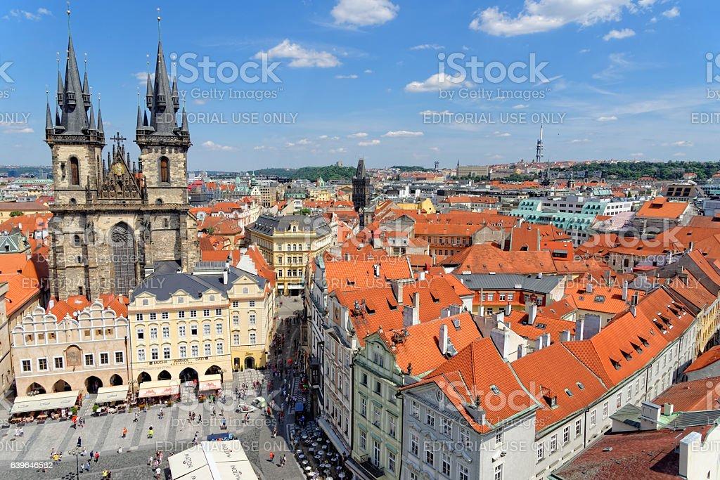 Old town square, Prague, Czech Republic. stock photo