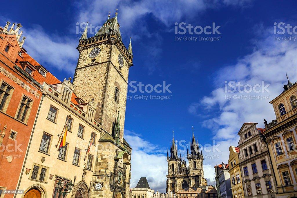 Old Town Square Prague stock photo